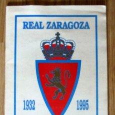 Álbum de fútbol completo: ALBUM REAL ZARAGOZA 1932 1995 PLANTILLA CAMPEON RECOPA. Lote 137157166