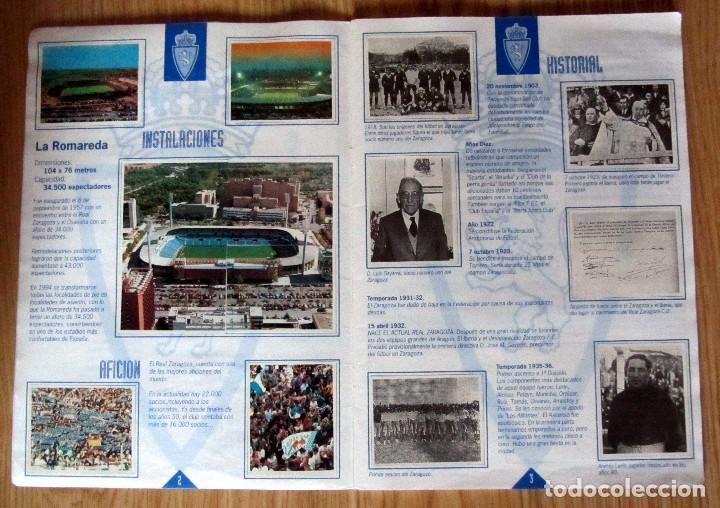 Álbum de fútbol completo: ALBUM REAL ZARAGOZA 1932 1995 PLANTILLA CAMPEON RECOPA - Foto 2 - 137157166
