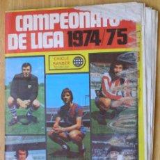 Álbum de fútbol completo: CAMPEONATO DE LIGA 1974/75 - CHICLE SANBER - COMPLETO. Lote 137293430