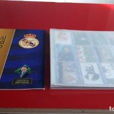 Álbum de fútbol completo: COLECCION COMPLETA CARDS REAL MADRID ORO 1902-1996 MAGIC BOX(DI STEFANO...) MAS ALBUM VACIO. Lote 137935962