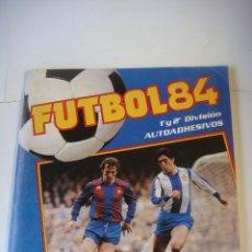 Álbum de fútbol completo: ALBUN DE CROMOS DE FUTBOL -84- 1ª Y 2ª DIVISION DE CROMO CRON (#). Lote 138616258
