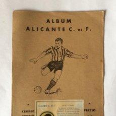 Álbum de fútbol completo: ALBUM CROMOS DE FUTBOL ALICANTE C.F.(COMPLETO)EDITORIAL VALENCIANA 1941-42. Lote 139579326