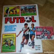 Álbum de fútbol completo: ALBUM COMPLETO FUTBOL REGLAMENTO, TACTICAS Y JUGADAS DE CAMPEONES EDICIONES ESTE 71 + SOBRE VACIO. Lote 139942610