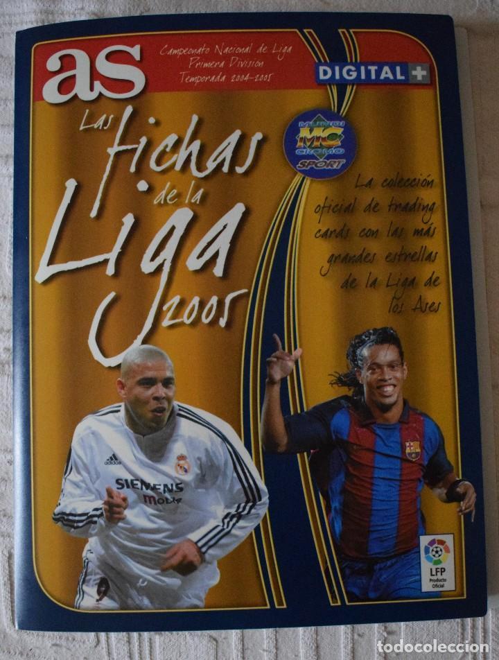 ALBUM COMPLETO FUTBOL LAS FICHAS DE LA LIGA 2005 MUNDI CROMO, AS. TEMPORADA 2004-2005 , 246 FICHAS (Coleccionismo Deportivo - Álbumes y Cromos de Deportes - Álbumes de Fútbol Completos)