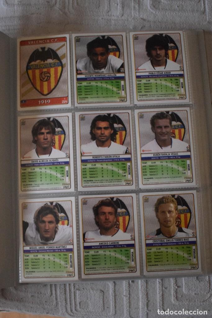 Álbum de fútbol completo: album completo futbol las fichas de la liga 2005 mundi cromo, as. temporada 2004-2005 , 246 fichas - Foto 2 - 152237324