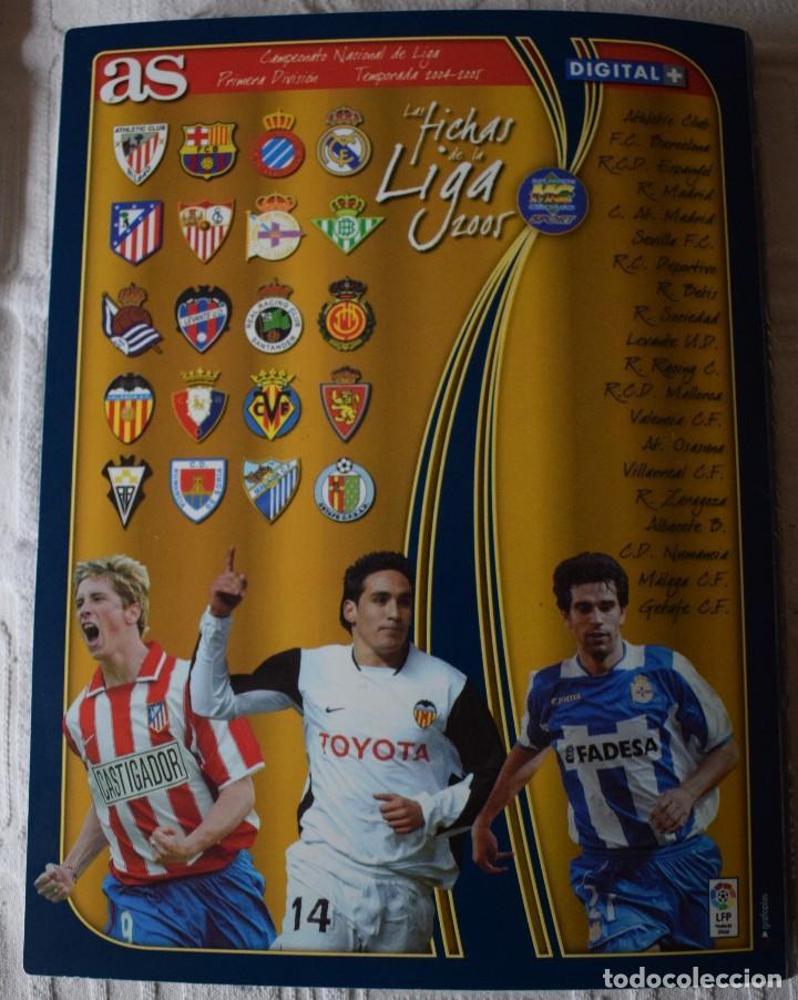 Álbum de fútbol completo: album completo futbol las fichas de la liga 2005 mundi cromo, as. temporada 2004-2005 , 246 fichas - Foto 30 - 152237324