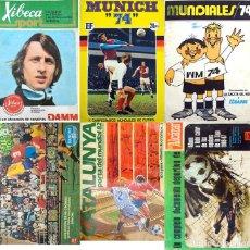Álbum de fútbol completo: 6 ALBUM FUTBOL COMPLETOS MUNDIAL 74, MUNDIAL 82, LIGA 1973 74, LIGA 1966 67. LEER Y VER FOTOS. Lote 140717118