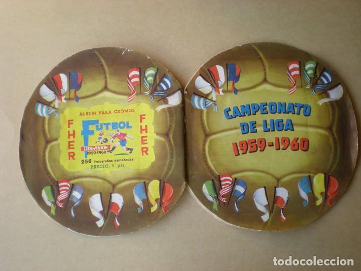 Álbum de fútbol completo: ALBUM COMPLETO CROMOS FUTBOL CAMPEONATO DE LIGA 1959-1960, EDITORIAL FHER - Foto 2 - 141169574