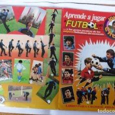 Album de football complet: .ÁLBUM DE CROMOS 1984 APRENDE FÚTBOL CON JOHAN CRUYFF. VER.COMPLETO.EN BUEN ESTADO.. Lote 141496714