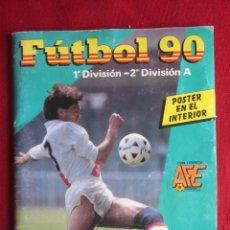 Álbum de fútbol completo: FUTBOL 90 1ª-2ª DIVISIÓN A. CASI COMPLETO. FALTAN 4. PANINI. Lote 142481694