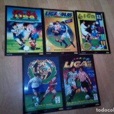 Álbum de fútbol completo: LOTE DE 4 ALBUNES FACSIMIL DE SALVAT DE LAS LIGAS 94-95, 95-06, 96-97 Y 97-98. Lote 143392030
