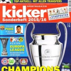 Álbum de fútbol completo: KICKER. - CHAMPIONS LEAGUE 2015/2016.#. Lote 143733830