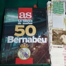 Álbum de fútbol completo: FUTBOL AS LA FÁBRICA DE SUEÑOS 50 AÑOS DEL BERNABÉU - REDACCIÓN: LUIS MIGUEL GONZÁLEZ COMPLETO. Lote 143833878