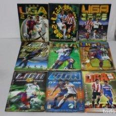 Álbum de fútbol completo: LOTE DE 9 ALBUMES LIGAS 99-00, 01-02, 02-03, 03-04, 04-05,05-06,06-07,07-08 Y 08-09. EDICIONES ESTE. Lote 144106250