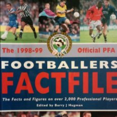 Álbum de fútbol completo: BARRY J. HUGMAN. - THE 1998-99 OFFICIAL PFA FOOTBALLERS FACTFILE.#. Lote 144785906