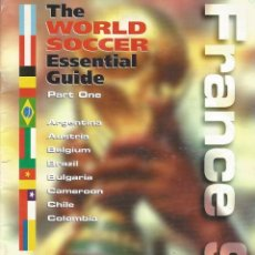 Álbum de fútbol completo: WORLD SOCCER. - THE ESSENTIAL GUIDE WORLD CUP 1998 (1+2+3+4) #. Lote 146003262