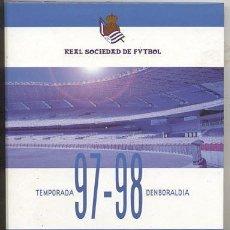 Álbum de fútbol completo: ALBUM COMPLETO / REAL SOCIEDAD DE FUTBOL 97-98 / SAN SEBASTIAN. Lote 146278646