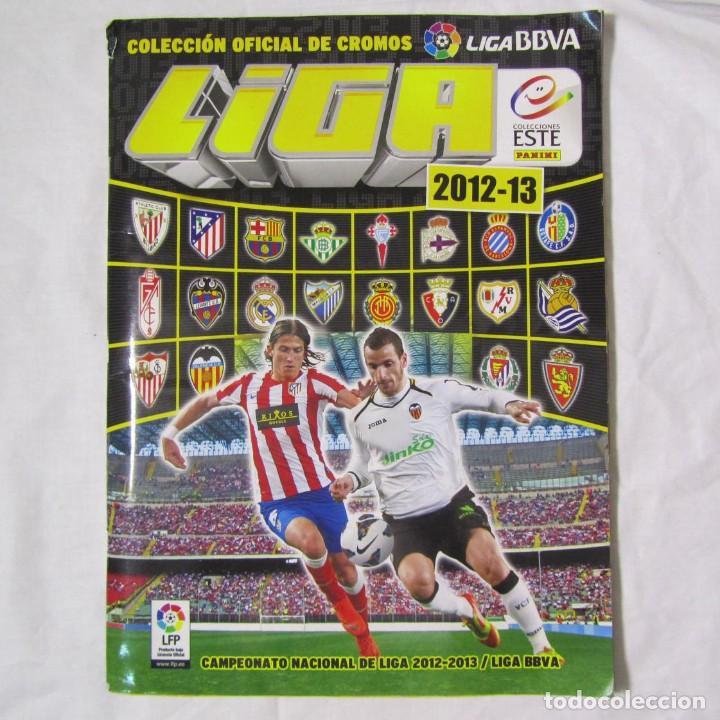 ALBUM CROMOS FUTBOL 2012-2013 COMPLETO, SIN LOS CROMOS DEL CHICLE. TODO EL CONTENIDO FOTOGRAFIADO (Collectable Sport - Sticker Albums and Stickers - Complete Football Albums)