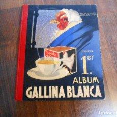 Álbum de fútbol completo: ALBUM CROMOS COMPLETO 1º GALLINA BLANCA PRIMER EQUIPOS FUTBOL REAL MADRID BILBAO BARSA CROMO. Lote 151473830