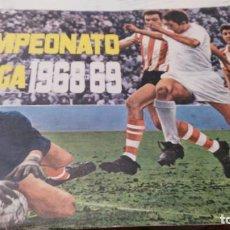 Álbum de fútbol completo: ANTIGUO ALBUM DE FUTBOL 1968 - 1969 COMPLETO A FALTA DE 1 CROMO Y CON 13 DOBLES INCLUIDOS -VER FOTOS. Lote 147125058