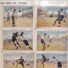 Álbum de fútbol completo: COLECCIÓN COMPLETA LOS ASES DE FOOT-BALL DE 25 CROMOS CHOCOLATES SEBASTIAN PRAT. Lote 148162908