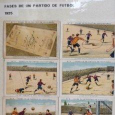 Álbum de fútbol completo: COLECCIÓN DE 29 CROMOS FASES DE UN PARTIDO DE FUTBOL 1925 CHOCOLATES JUNCOSA. Lote 148164409