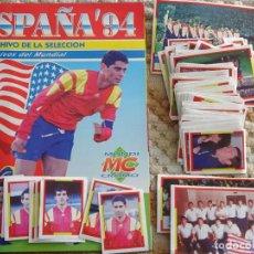 Álbum de fútbol completo: ÁLBUM DE CROMOS DE FÚTBOL. MUNDIAL USA 94 1994. SELECCIÓN ESPAÑOLA ESPAÑA. COMPLETO. 170GR. Lote 148242478