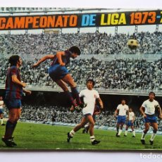Álbum de fútbol completo: ALBUM 1973 1974 EXCELENTE ESTADO. FHER DISGRA CAMPEONATO LIGA 73 74 CON POSTER COMPLETO. Lote 139917702