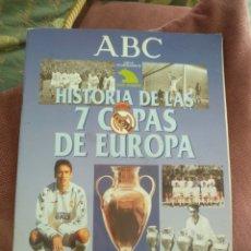 Álbum de fútbol completo: REAL MADRID. HISTORIA DE LAS 7 COPAS DE EUROPA. EDITA: PRENSA ESPAÑOLA. ABC, BLANCO Y NEGRO. Lote 149675869