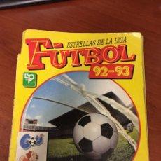 Álbum de fútbol completo: ALBUM PANINI ESTRELLAS DE LA LIGA FUTBOL 92 - 93 COMPLETO - TAPA ROTA.. Lote 172994084