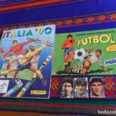 Álbum de fútbol completo: MUNDIAL ITALIA 90 COMPLETO PANINI Y CAMPEONATO EUROPEO FÚTBOL EUROCOPA FRANCIA 1984 PHOSKITOS VACÍO . Lote 150528426