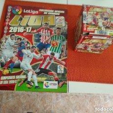 Álbum de fútbol completo: ALBUM + CAJA LIGA ESTE 2016-17 COMPLETO SIN PEGAR. Lote 151128278