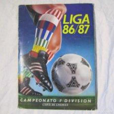 Álbum de fútbol completo: ALBUM FUTBOL LIGA 86/87 COMPLETO A FALTA DE ALGUNOS FICHAJES. VER FOTOS ADICIONALES. Lote 151534730