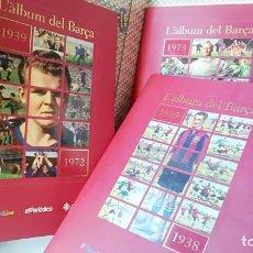 Álbum de fútbol completo: F. C. BARCELONA, BARÇA. CENT ANYS DE RECORDS. CIEN AÑOS DE RECUERDOS. SERIE 3 ÁLBUMES Y CAJETÍN.. Lote 151639326