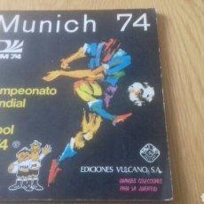 Álbum de fútbol completo: ALBUM COMPLETO MUNICH 74. Lote 151698320