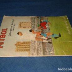 Álbum de fútbol completo: FUTBOL, CAMPEONATO NACIONAL 1960-61, ÁLBUM COMPLETO, SEÑALES DE USO. Lote 151721358