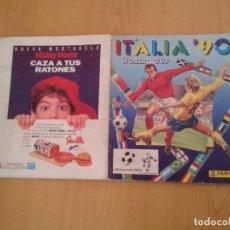 Álbum de fútbol completo: ALBUM PANINI MUNDIAL ITALIA 90 100% COMPLETO RESULTADOS ESCRITOS BUEN ESTADO LEE R8622. Lote 152141490