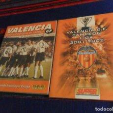 Álbum de fútbol completo: VALENCIA C.F. CAMPEÓN LIGA 2001 2002 SUPER DEPORTE, COL. OFICIAL TEMPORADA 2000 01 PANINI. COMPLETO. Lote 152733102