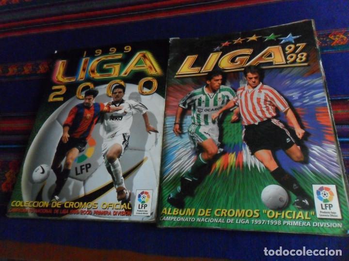 ESTE LIGA 97 98 1997 1998 COMPLETO Y ESTE LIGA 99 1999 2000 COMPLETO. REGALO GUÍA ADRENALYN 17 18. (Coleccionismo Deportivo - Álbumes y Cromos de Deportes - Álbumes de Fútbol Completos)