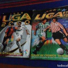 Álbum de fútbol completo: ESTE LIGA 97 98 1997 1998 COMPLETO Y ESTE LIGA 99 1999 2000 COMPLETO. REGALO GUÍA ADRENALYN 17 18.. Lote 152734470