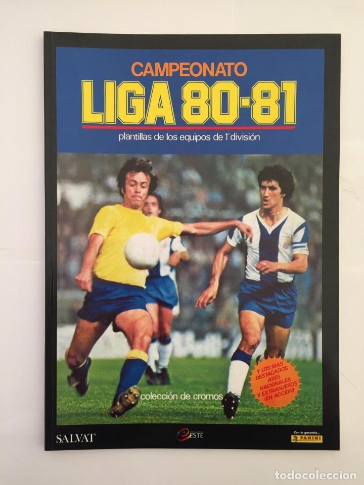 FACSIMIL CAMPEONATO NACIONAL DE LA LIGA DE 1980 1981 SALVAT COLECCIONES ESTE PANINI (Coleccionismo Deportivo - Álbumes y Cromos de Deportes - Álbumes de Fútbol Completos)