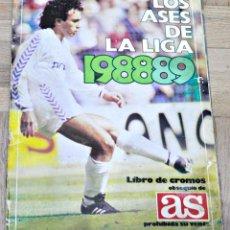 Álbum de fútbol completo: ALBUM COMPLETO DE LOS ASES DE LA LIGA 1988-1989/88-89 AÑO 1988 DE AS. Lote 153102894