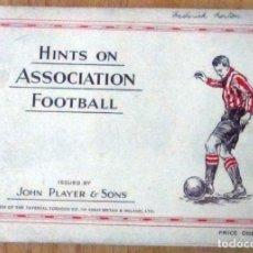 Álbum de fútbol completo: HINTS ON ASSOCIATION FOOTBALL JOHN PLAYER & SONS ALBUM COMPLETO 50 CROMOS EN MUY BUEN ESTADO. Lote 153256834