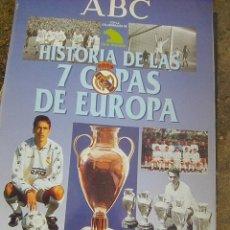 Álbum de fútbol completo: REAL MADRID . LAS 7 COPAS DE EUROPA (ABC, 1998). Lote 153875162