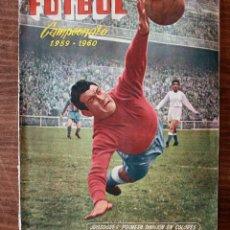 Álbum de fútbol completo: ALBUM DE CROMOS FERCA - FUTBOL CAMPEONATO 1959 - 1960 - COMPLETO + 14 COLOCAS. Lote 154401658