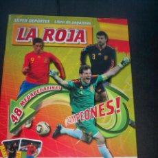 Álbum de fútbol completo: LIBRO ALBUM PEGATINAS FUTBOL LA ROJA TODAS SUS CLAVES SELECCION ESPAÑOLA COMPLETO. Lote 155148618