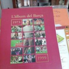Álbum de fútbol completo: ALBUMES FUTBOL COMPLETOS . HISTORIA EN CROMOS . 3 ALBUMES AZULGRANAS. Lote 155380270