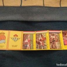 Álbum de fútbol completo: SUPER FUTBOL 84 ROLLAN. LOTE 6 CROMOS NUNCA PEGADO TIRAS SIN CORTAR FICHAJE MORAN BARCELONA PLATINI . Lote 155538146