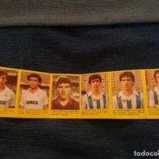 Álbum de fútbol completo: SUPER FUTBOL 84 ROLLAN. LOTE 6 CROMOS NUNCA PEGADO TIRA SIN CORTAR REAL MADRID Y SOCIEDAD GALLEGO . Lote 155539098