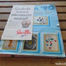 Álbum de fútbol completo: ALBUM DE CROMOS COPA DEL MUNDO MUNDIAL ITALIA 90. WORLD CUP PANINI. COMPLETO FALTA LAS PORTADAS. Lote 155656346